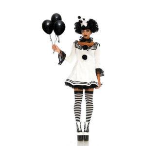 Deguisement Halloween Pierrot le Clown pour Femme | Idées Cadeaux Insolites