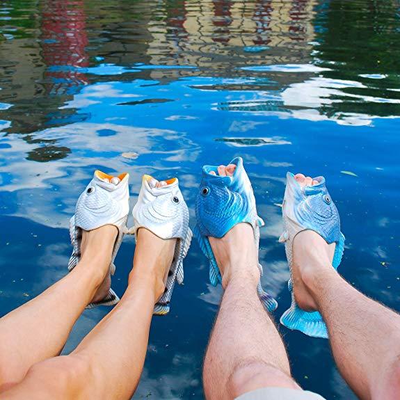Sandales en forme de poisson | Idées Cadeaux Insolites et Originales