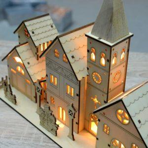 Décoration village de Noël lumineux | Idées cadeaux et déco insolites pour Noël