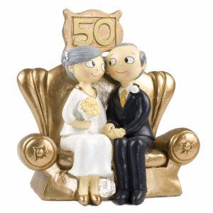 Figurine pour les noces d'or | Idées cadeaux insolites mariage