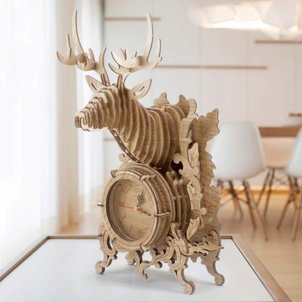Horloge en bois à monter soi-même - Puzzle 3D | Idées cadeaux insolites