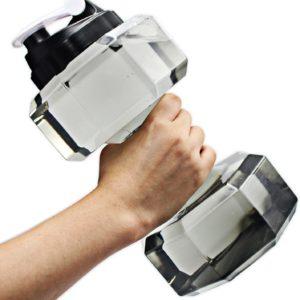 Bouteille d'eau en forme d'haltère pour la musculation   Idées cadeaux insolites