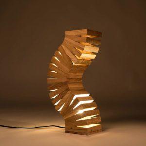 Lampes insolite en bois de chêne | Idées cadeaux/déco insolites