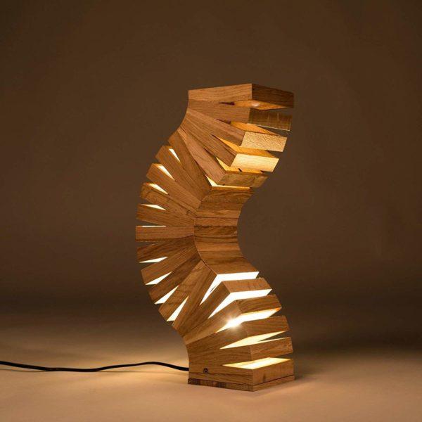 Lampes insolite en bois de chêne   Idées cadeaux/déco insolites