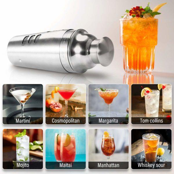 Shaker Cocktails avec recettes intégrées | Idées cadeaux insolites