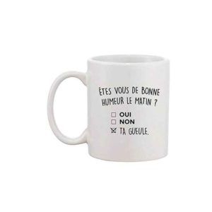 Mug Fun - Êtes-vous de bonne humeur le matin ? | Idées cadeaux insolites et originales collègues bureau