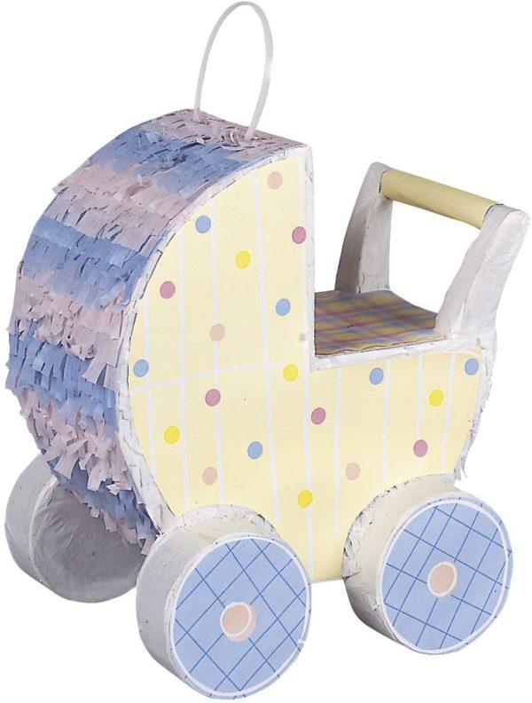 Piñata en forme de landau pour baby shower et baptême | Idées cadeaux insolites