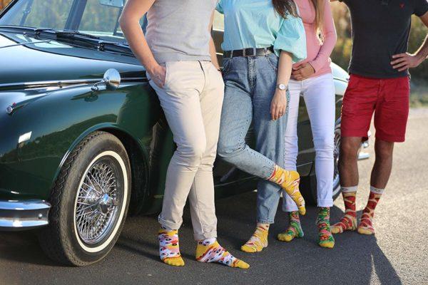 Paires de chaussettes en forme de pizza | Idées cadeaux insolites