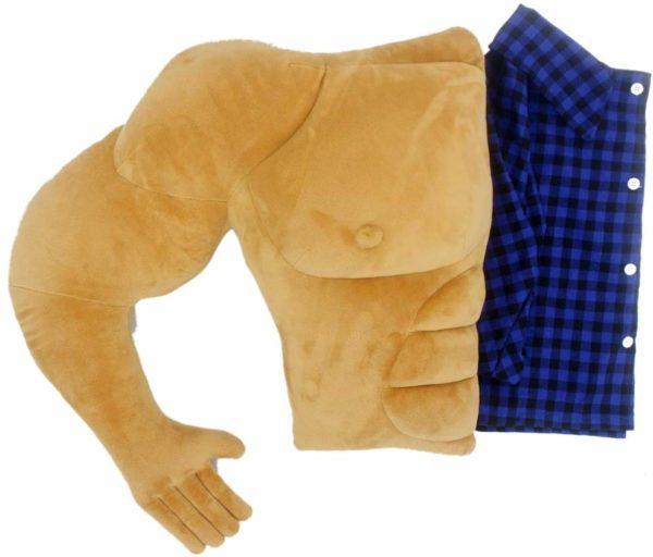 Coussin homme musclé - Boyfriend Pillow | Idées cadeaux insolites