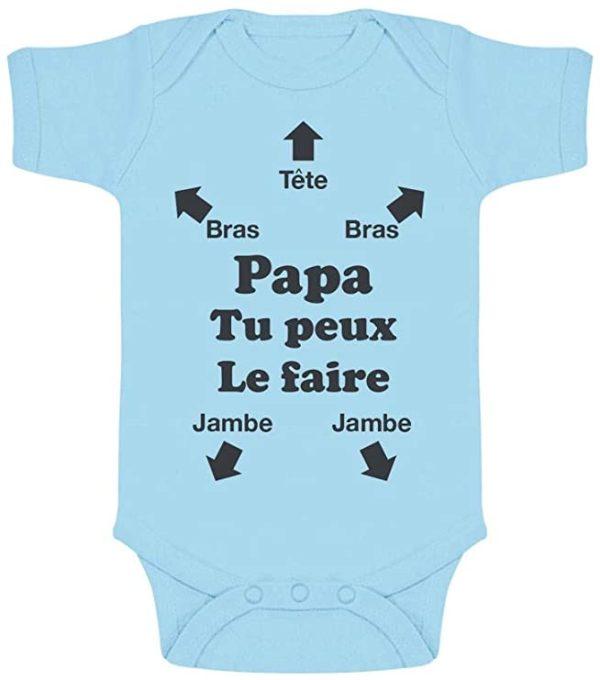 """Body bébé """"Papa Tu Peux Le Faire !""""   Idées cadeaux insolites """