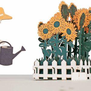 Carte de vœux 3D originale jardinier | Idées cadeaux insolites