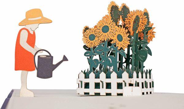 Carte de vœux 3D originale jardinier   Idées cadeaux insolites