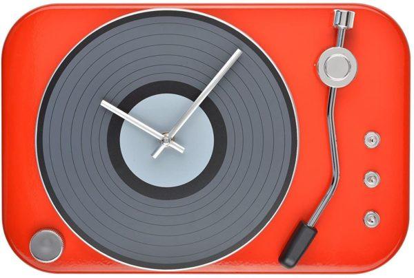 Horloge platine tourne-disque vinyle | Idées cadeaux insolites vintage