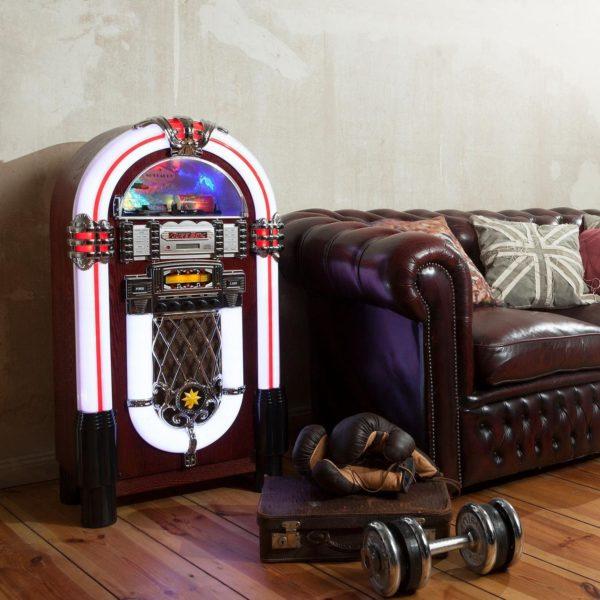 Jukebox vintage aux fonctionnalités modernes | Idées cadeaux insolites musique