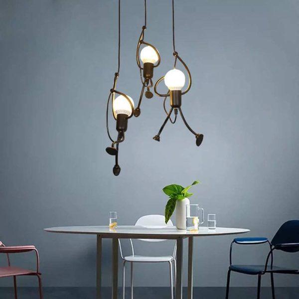 Lampe suspension bonhomme insolite   Idées cadeaux insolites déco