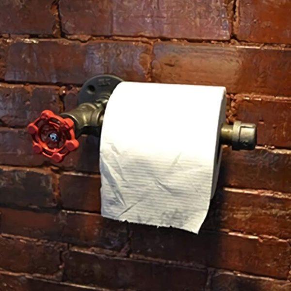 Porte-papier toilette mural original style industriel | Idées cadeaux insolites pour la maison