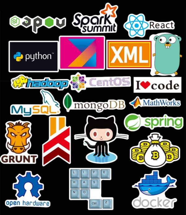 Autocollants Geeks programmation développeur JS HTML, C++ | Idées cadeaux insolites