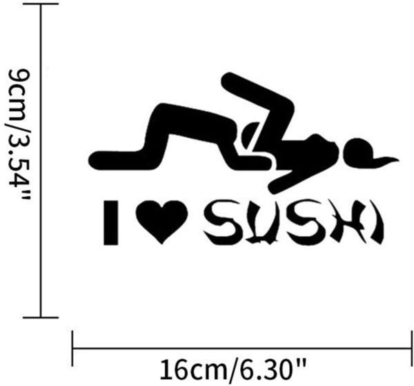 """Autocollant sexy """"I Love Sushi""""   Idées cadeaux insolites sex"""