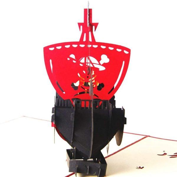 Carte 3D Bateau de pirate | Idées cadeaux insolites