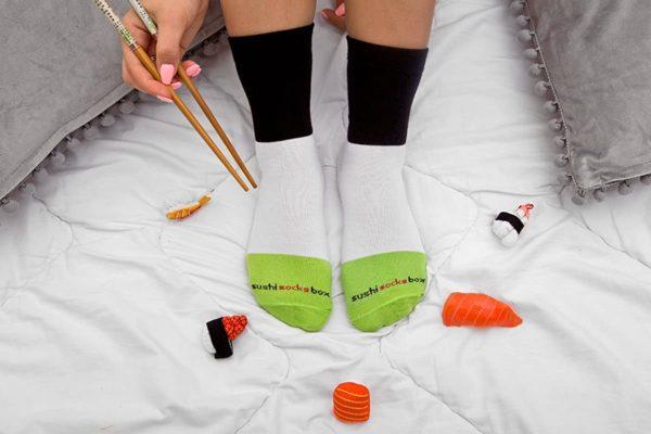 Chaussettes Sushis et Makis   Idées cadeaux insolites