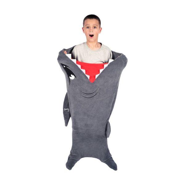 Couverture en forme de requin | Idées cadeaux insolites pour enfants