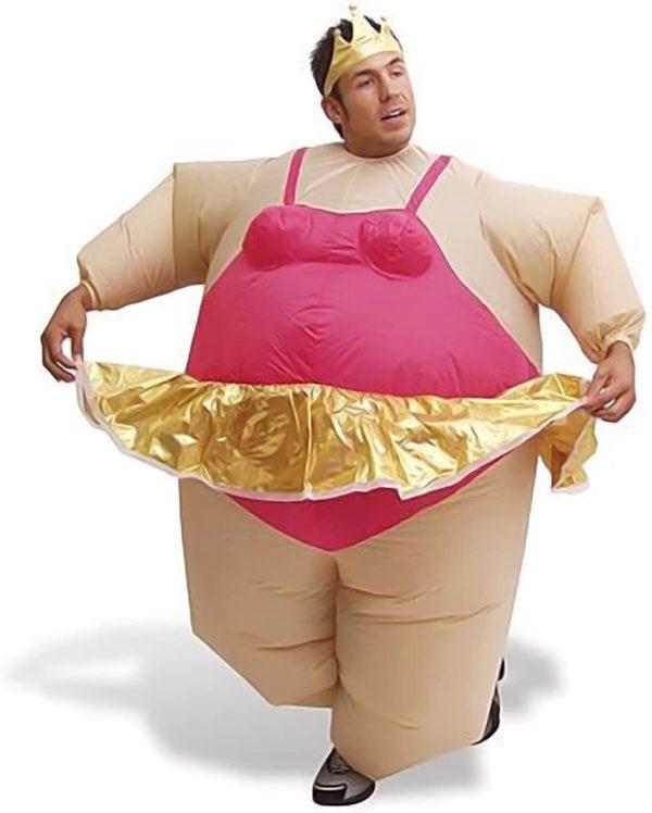 Déguisement gonflable pour homme ballerine avec tutu | Idées cadeaux insolites