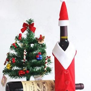 Décoration de Noël pour bouteilles de vin rouge | Idées cadeaux insolites