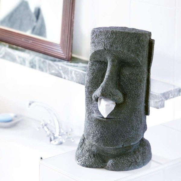 Distributeur de mouchoirs statue Moai insolite | Idées cadeaux insolites