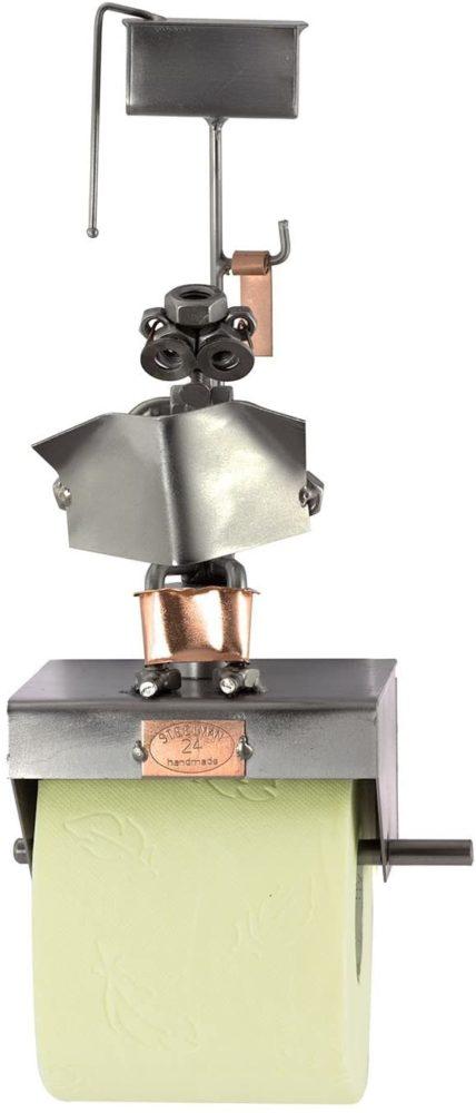 Figurine en métal originale pour papier toilette | Idées cadeaux insolites