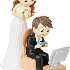 Figurine originale couple marié et jeux vidéos | Idées cadeaux insolites