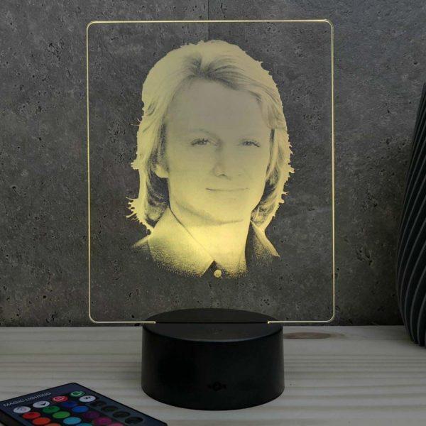 Lampe 3D Claude François | Idées cadeaux insolites