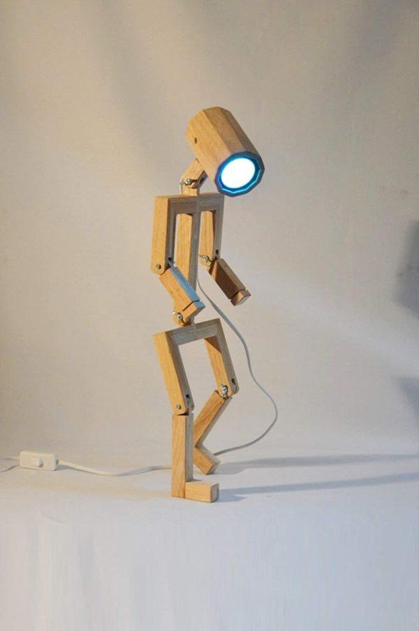 Lampe bonhomme articulé | Idées cadeaux décoration insolites