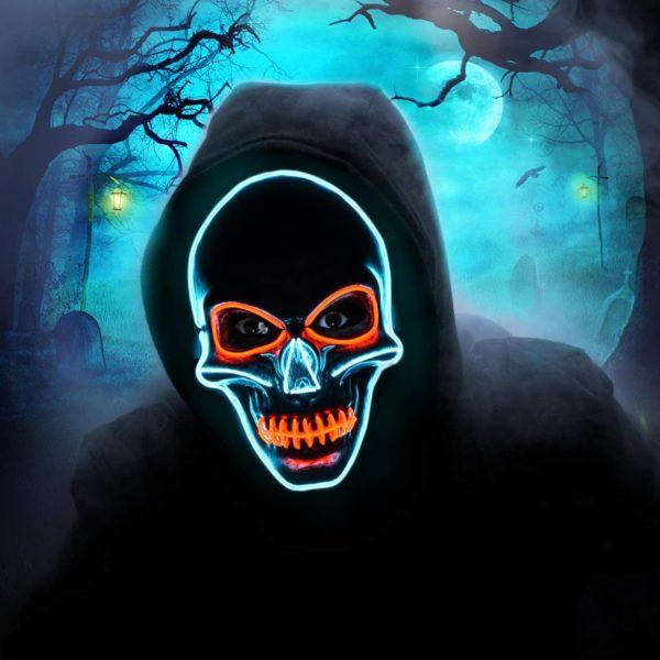 Masque Halloween lumière LED   Idées cadeaux insolites Halloween