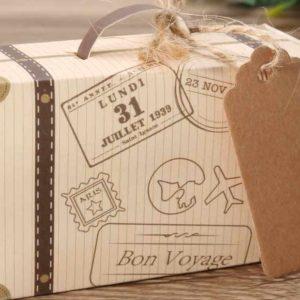 Petite valise vintage en jute pour votre décoration | Idées cadeaux décoration originales insolites
