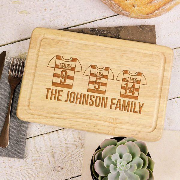 Planche à découper personnalisé pour la famille | Idées cadeaux insolites
