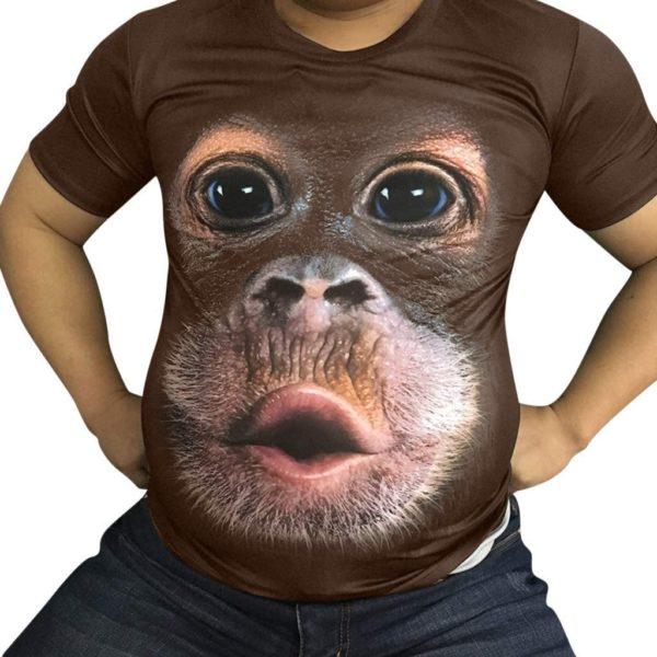 T-shirt imprimé tête de singe   Idées cadeaux insolites