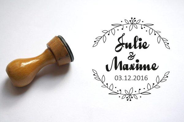Tampon mariage personnalisé | Idées déco cadeaux insolites mariage
