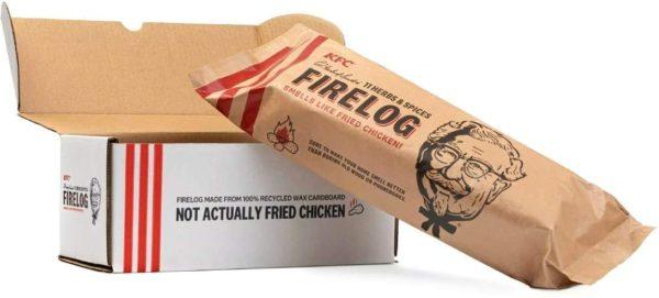 Bûche KFC pour la cheminée   Idées cadeaux insolites