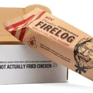 Bûche KFC pour la cheminée | Idées cadeaux insolites