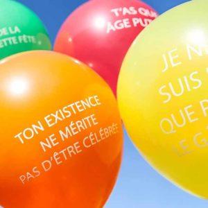 Ballons gonflables anniversaire grossiers | Idées cadeaux et déco originales et insolites