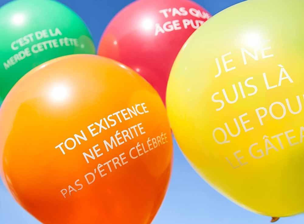 Ballons gonflables anniversaire grossiers   Idées cadeaux et déco originales et insolites