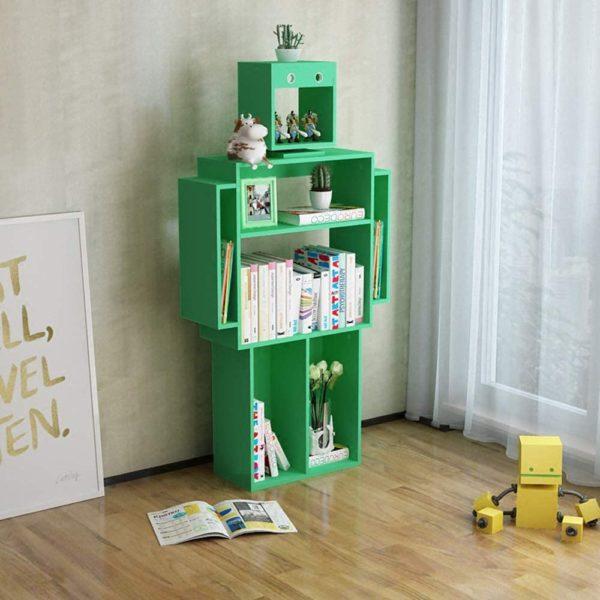Bibliothèque meuble de rangement en forme de robot | Idées cadeaux insolites