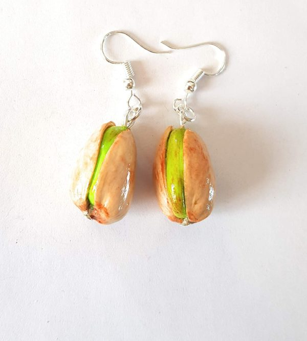Boucles d'oreilles pistaches pour les gourmandes | Idées cadeaux insolites
