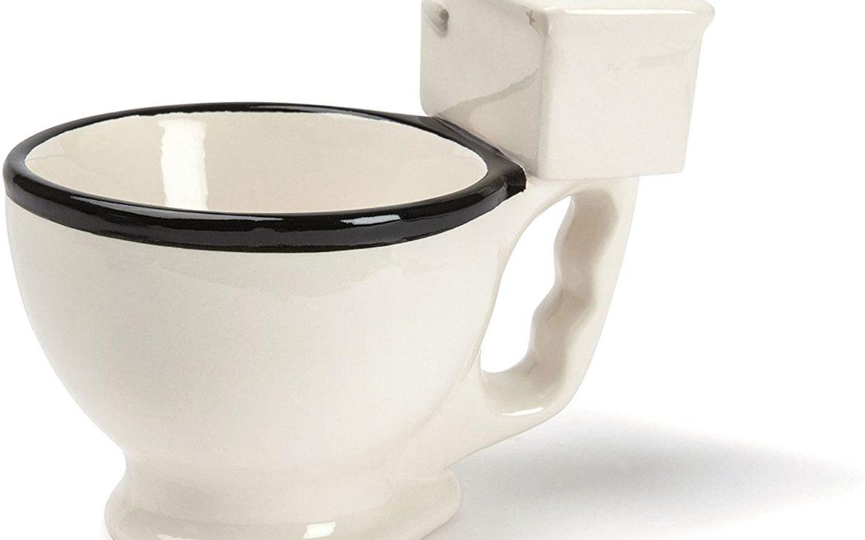 Buvez dans une tasse en forme de toilettes | Idées cadeaux originales collègues