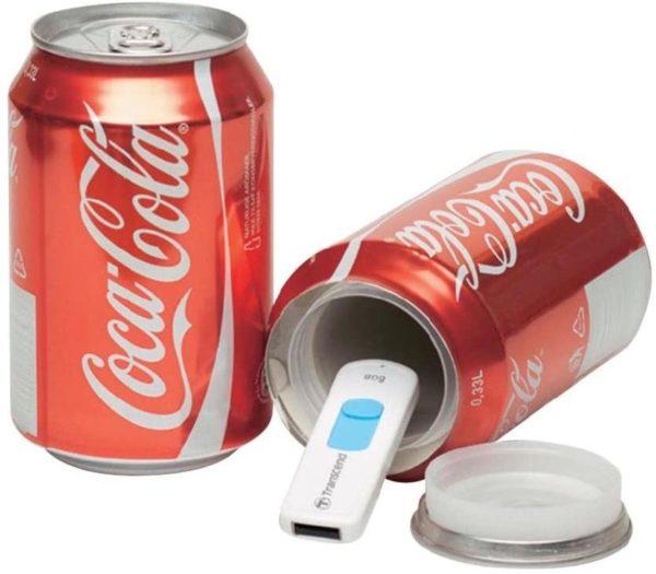 Canette cachette secrète Coca-Cola | Idées cadeaux insolites