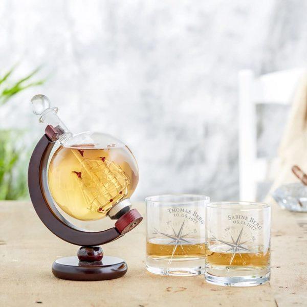Carafe Whisky en forme de globe terrestre | Idées cadeaux insolites