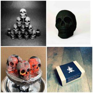 Charbons en forme de tête de mort | Idées cadeaux insolites