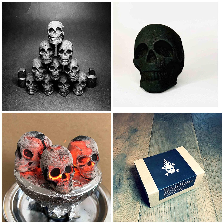 Charbons en forme de tête de mort   Idées cadeaux insolites