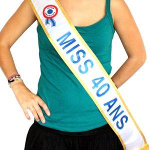 Devenez Miss pour vos 40 ans avec l'écharpe officielle | Idées cadeaux insolites