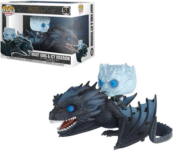Funko Pop : Figurine du Roi de la Nuit sur le dragon Game Of Thrones | Idées cadeaux insolites